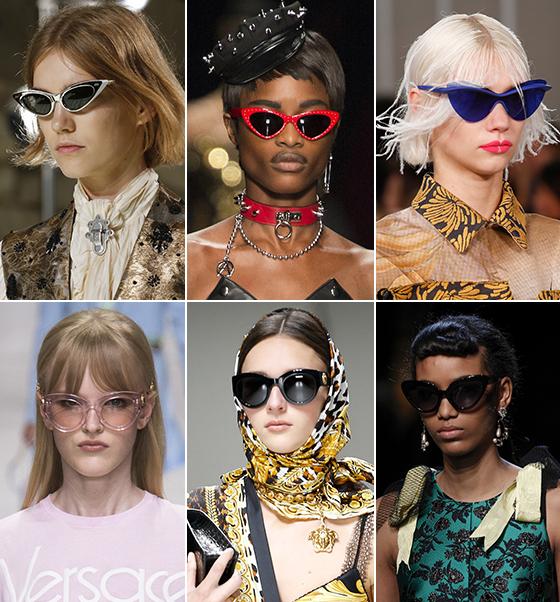 왼쪽부터 시계 방향으로 Louis Vuitton, Moschino, Maison Margiela, Fendi, Versace 2018 S/S 컬렉션/사진=각 브랜드