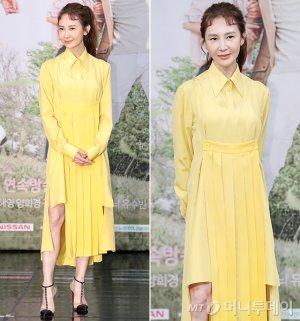 채시라, 화사한 원피스 패션…아찔한 슬릿 '포인트'