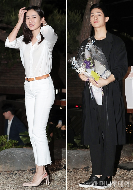 '밥누나' 종방연에 참석한 배우 손예진, 정해인/사진=김창현 기자