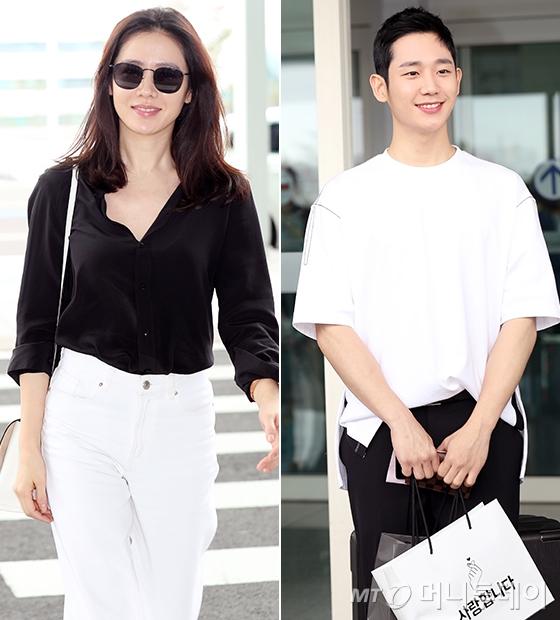 '밥누나' 포상 휴가 떠나는 배우 손예진, 정해인./사진=김휘선 기자