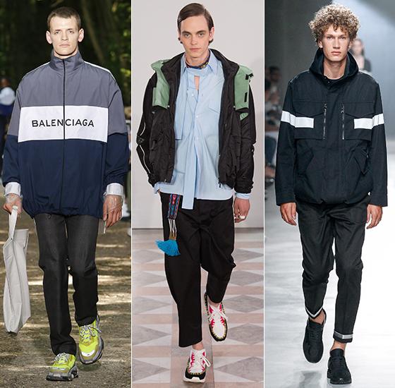 Balenciaga, Valentino,Neil Barrett 2018 S/S Menswear/사진=각 브랜드