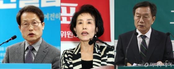 조희연, 박선영, 조영달 서울교육감 후보 /사진=뉴스1
