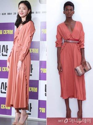 김고은 vs 모델, 사랑스러운 러플 원피스…승자는?