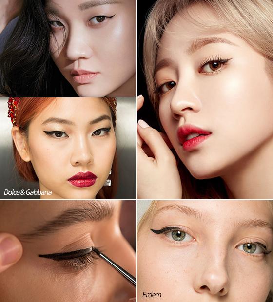 왼쪽부터 시계방향으로 모델 장윤주, 그룹 EXID 하니/사진=더블유 코리아, 엘르, Erdem, Dolce & Gabbana