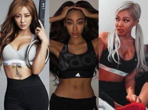 건강미 뽐내보자…'핫보디' 스타들의 운동복 패션