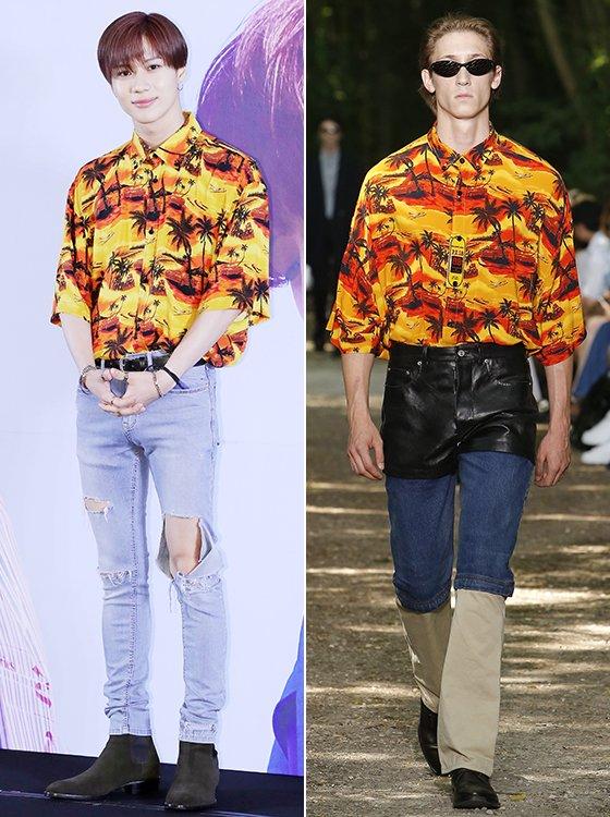 샤이니 태민/사진=김창현 기자, 발렌시아가 2018 S/S Menswear 컬렉션