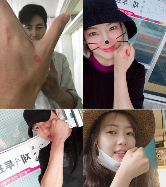 위쪽부터 시계방향으로 배우 정우성, 소녀시대 효연, 배우 고아라, 인피니트 성열 /사진=각 인스타그램 캡처