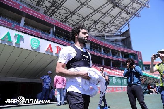 이집트 국가대표팀 훈련에 참가한 살라 /AFPBBNews=뉴스1