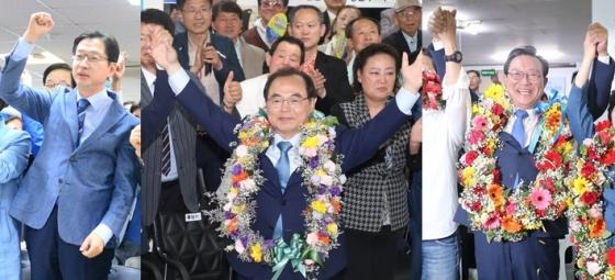 김경수, 오거돈, 송철호(왼쪽부터)경남도지사, 부산시장, 울산시장 당선자/사진=뉴스1