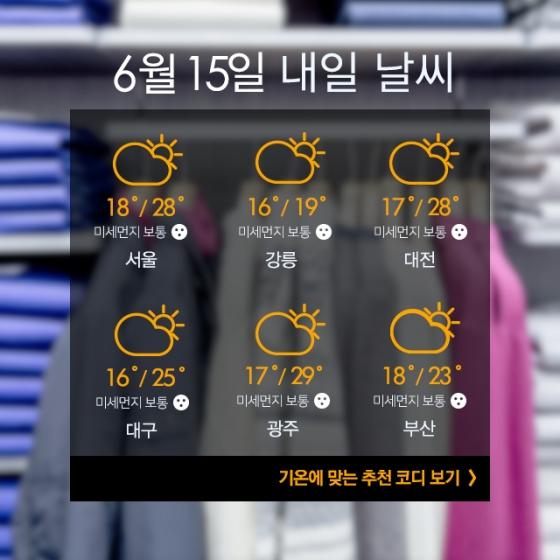 [내일뭐입지?] 외출하기 좋은 날씨, 패션 포인트는 '체크'