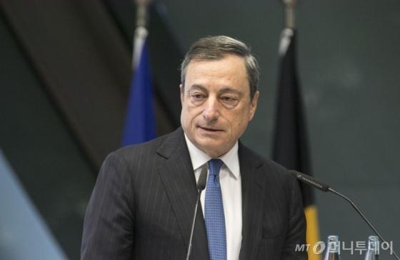 마리오 드라기 유럽중앙은행(ECB) 총재. /AFPBBNews=뉴스1