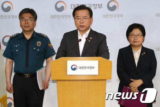 [사진]김부겸 장관 '특별재원 50억 동원해 몰카 탐지기 대량 확보'