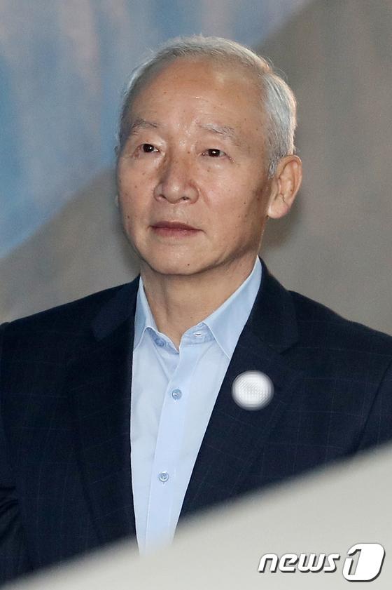 [사진]'국정원 특활비' 의혹 남재준, 선고공판 출석
