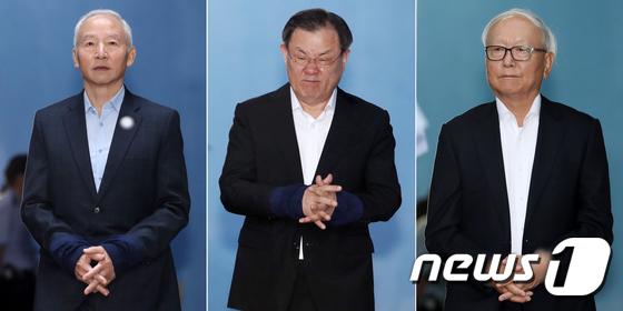 남재준(왼쪽부터), 이병기, 이병호 전 국가정보원장  © News1 민경석 기자