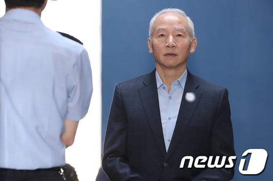 [사진]'국정원 특활비 의혹' 남재준, 징역 3년 실형