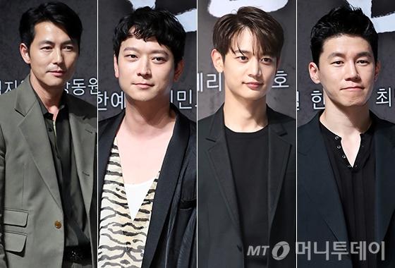 배우 정우성, 강동원, 최민호, 김무열/사진=머니투데이 DB, 뉴스1