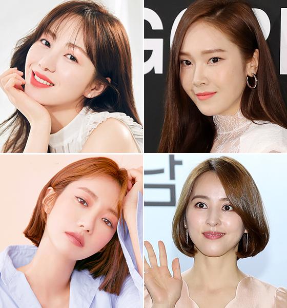 왼쪽부터 시계 방향으로 AOA 민아, 가수 제시카, 배우 한혜진, 고준희 /사진=클리오, 머니투데이 DB