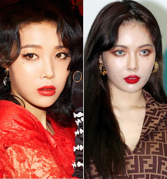 가수 유빈, 현아/사진=머니투데이 DB, JYP엔터테인먼트