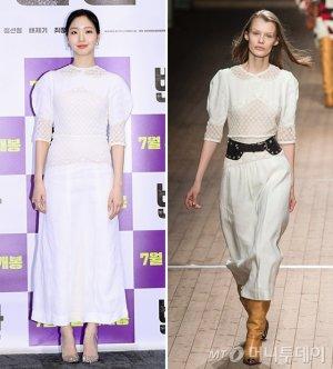 김고은 vs 모델, 화사한 화이트 원피스 패션…