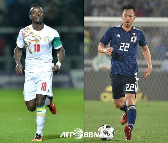 [월드컵] 일본-세네갈, 선발 공개..'요시다vs마네'