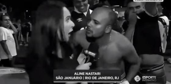 브라질의 여성 기자 52명이 해시태 #DeixaElaTrabalhar(그 여성이 일하게 해주오)를 달고 페이스북에 게시한 영상 캡처.