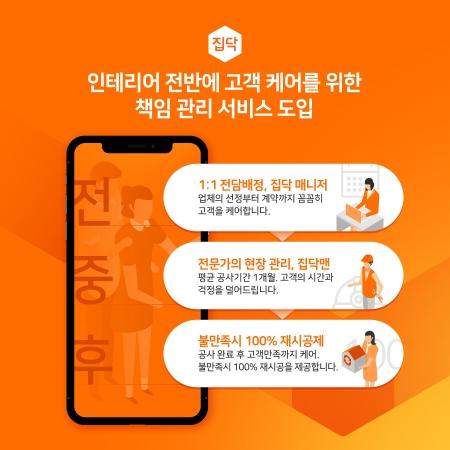 인테리어 O2O 집닥, 고객 '책임관리' 서비스 강화