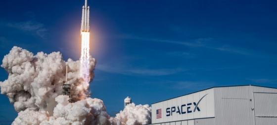 올해 2월 플로리다주 케네디우주센터에서 시험발사된 스페이스X의 팔콘헤비 로켓. /사진제공=스페이스X.
