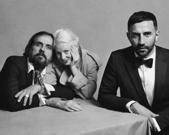 리카르도 티시 (Riccardo Tisci), 비비안 웨스트 우드(Vivienne Westwood), 안드레아스 크론탈러(Andreas Kronthaler) /사진제공=버버리 Courtesy of Burberry / 브렛 로이드(Brett Lloyd)