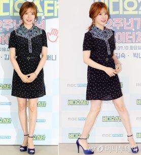 소녀시대 써니, 패턴 원피스 패션…차분한 매력 '물씬'