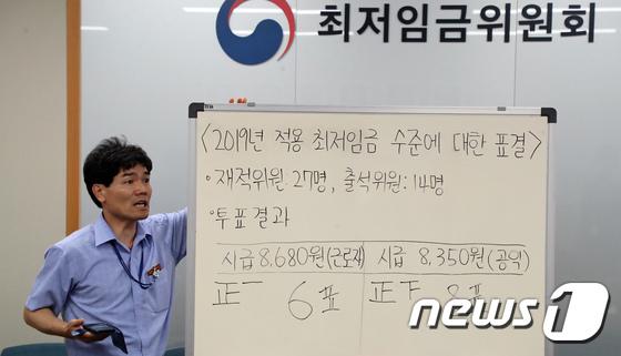 [사진]'2019년도 최저임금, 시급 8350원으로 확정'
