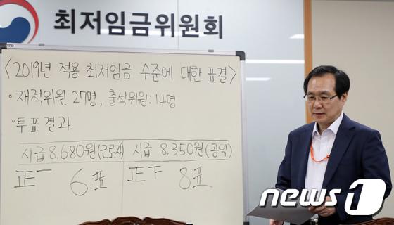 [사진]'최저임금 10.9%인상, 8350원으로 결정'