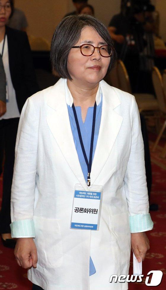 [사진]김영란 위원장 '대입제도 개편을 위해'