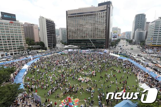 [사진]서울광장에서 열린 서울퀴어문화축제