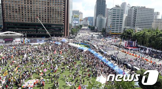 [사진]'퀴어축제'에 둘로 나뉜 서울