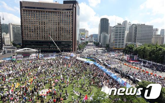 [사진]퀴어축제, '둘로 나뉜 서울'