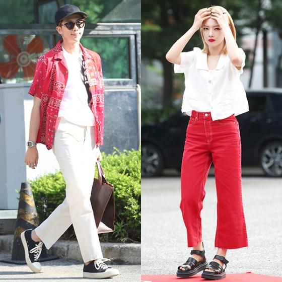그룹 방탄소년단 RM(왼쪽)과 그룹 카드 전소민./사진=뉴스1