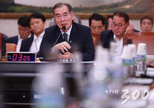이개호 농림축산식품부 장관 후보자가 9일 오전 서울 여의도 국회에서 열린 인사청문회에서 의원들의 질의에 답하고 있다. /사진=이동훈 기자