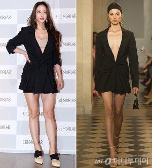한예슬 vs 모델, 아찔한 재킷 원피스…