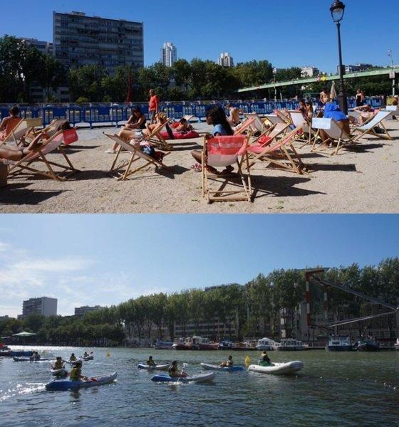 파리 플라주는 센 강변에 인공해변을 조성돼 방문객들이 물놀이를 함께 즐길 수 있다./사진=에어프랑스 공식 블로그
