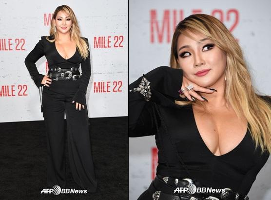 미국 캘리포니아에서 진행된 영화 '마일 22' 포토월 행사에 한 가수 씨엘(CL). /사진=AFPBBNews=뉴스1