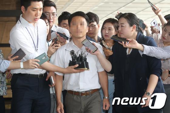 [사진]'재판거래' 문건 작성 의혹 정다주 부장판사, 검찰 출석