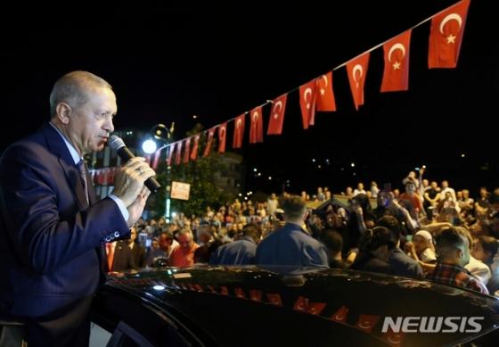 터키 에르도안 대통령. 미국인 목사 석방을 두고 미국과 갈등을 빚고 있다. /AFPBBNews=뉴스1