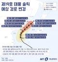 [그래픽뉴스] 진로 바꾼 제19호 태풍 솔릭, 24일 오전이 '고비'