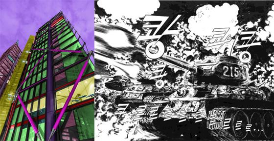 (왼쪽)김중만, LONDON NIGHT, 2014, 214x136cm. (오른쪽)허영만, 오! 한강, Print on canvas, 191x150cm./사진제공=인사아트센터<br />