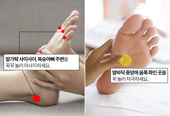 혈액순환을 원활히 하는 발 마사지법/사진=이미지투데이