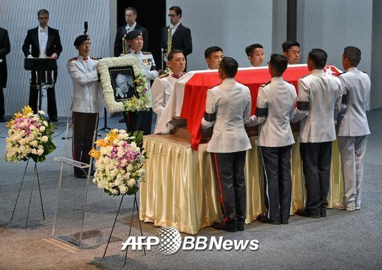 싱가포르 초대 수상 리콴유 장례식. /AFPBBNews=뉴스1