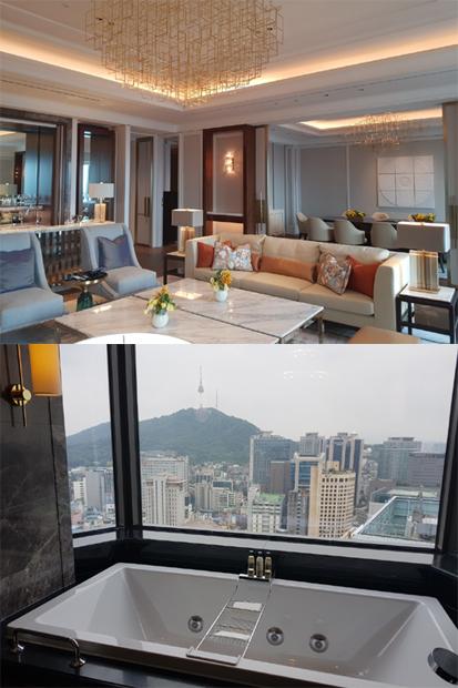 이그제큐티브 타워의 최상위 객실 '로얄 스위트'(Royal Suite Room) 내부 모습./사진=배영윤 기자