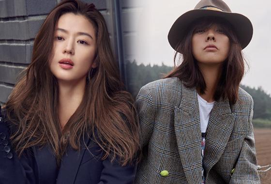 배우 전지현, 가수 이효리/사진=루즈앤라운지, 쟈딕앤볼테르