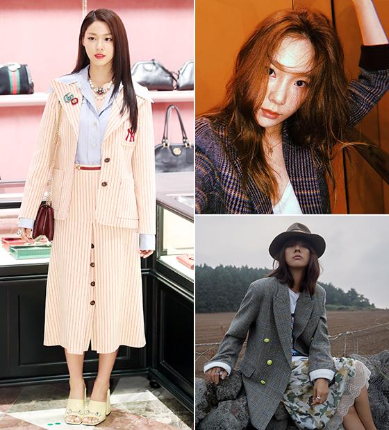 그룹 AOA 설현, 소녀시대 태연, 가수 이효리/사진=뉴스1, 태연 인스타그램, 쟈딕 앤 볼테르