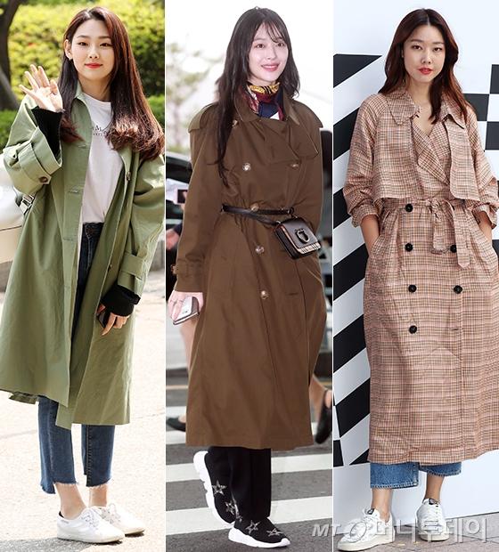 그룹 구구단 미나, 가수 겸 배우 설리(최진리), 모델 한혜진/사진=머니투데이 DB